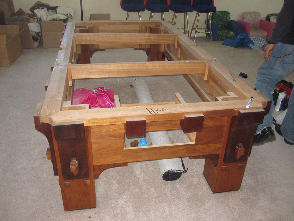 How To Get 1000 Lb Pool Table Downstairs Dk Billiard