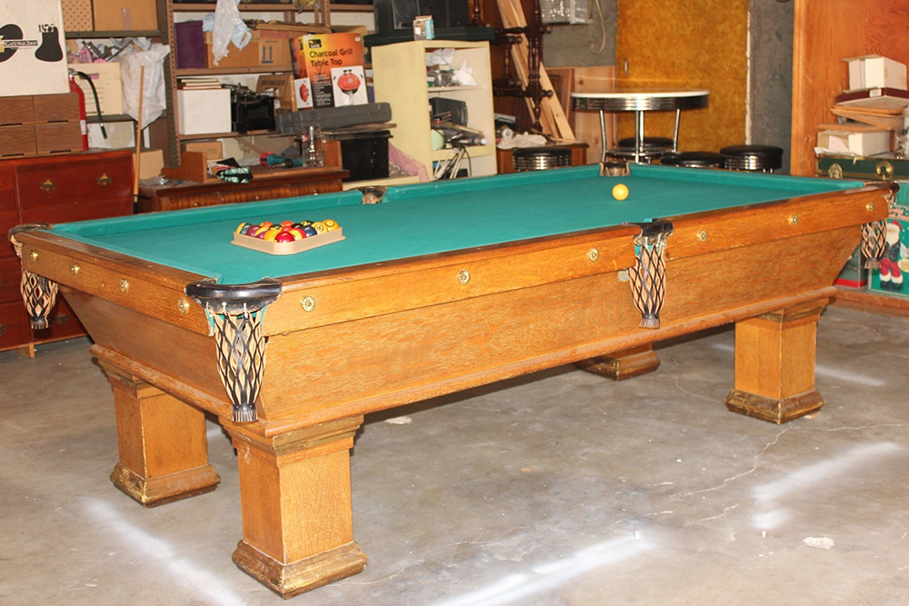 19e53adca3e4c Mortuary Antique Pool Table - DK Billiard Service