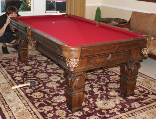 Placing an Area Rug Under a Pool Table