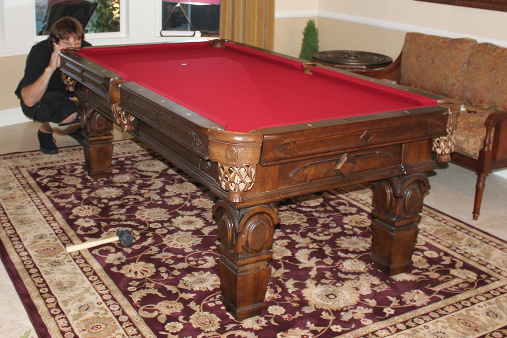 Placing An Area Rug Under A Pool Table Dk Billiard Service Pool