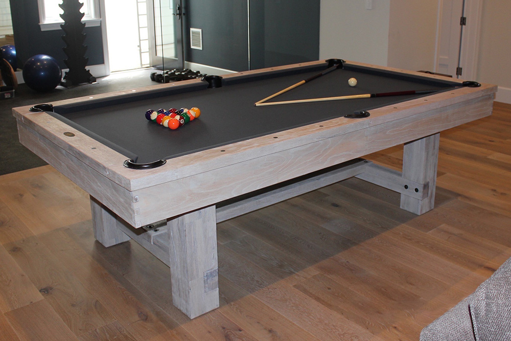 Rustic Gray Gameroom Dk Billiard Service Pool Tables