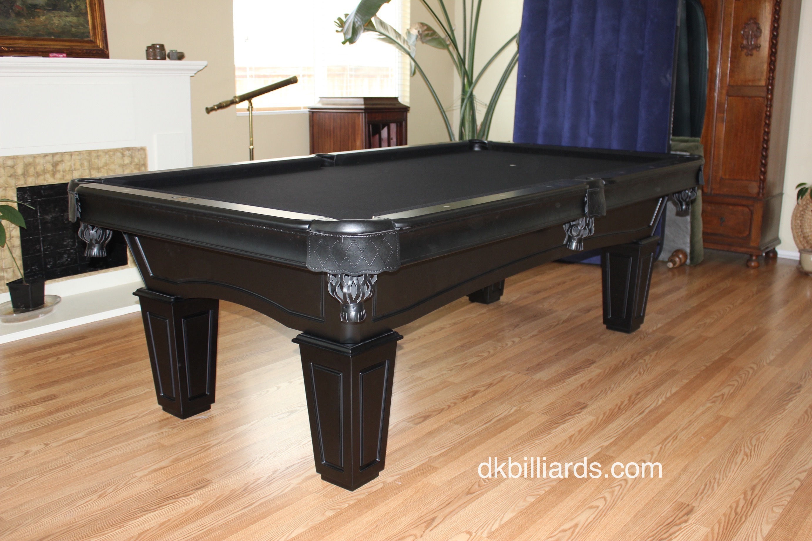 All Black Pool Table - DK Billiard Service, Pool Tables For Sale