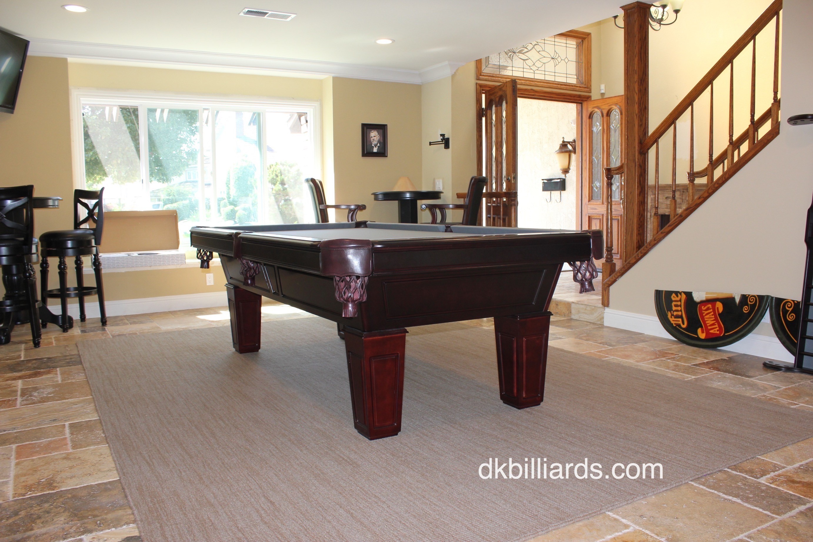 Placing A Pool Table On Rug Dk
