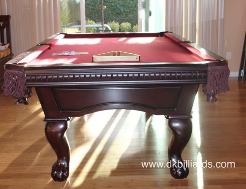 Traditional Pool Table with Dark Stain
