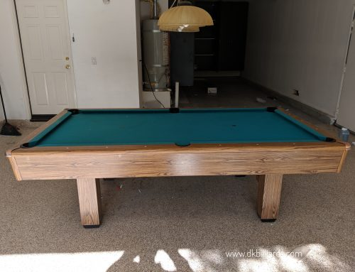 Fixing Up An Old Pool Table