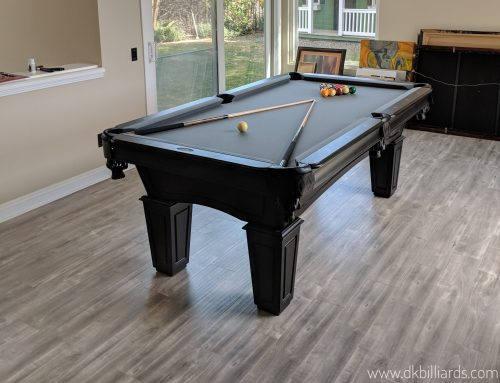 Simple Black Stained Pool Table