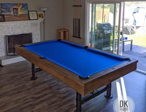 Rustic Bedford Pool Table with Dining Tops