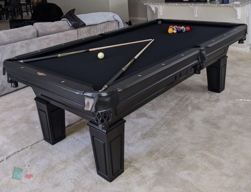 Classic Black Pool Table
